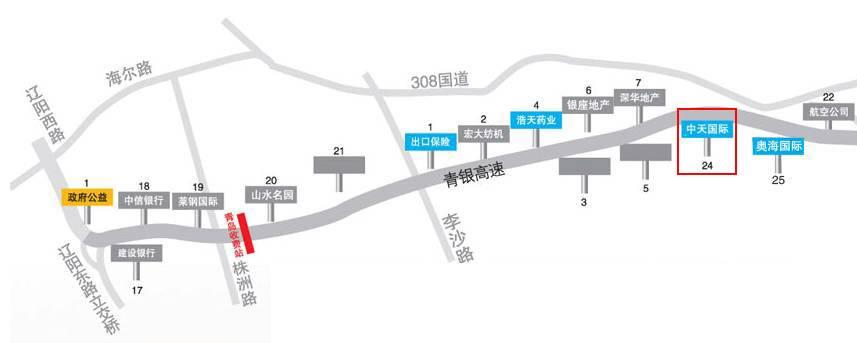 青银高速(机场路)单立柱广告24号位