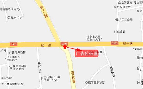 济南经十路地图