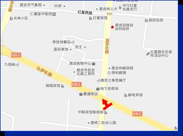 乌鲁木齐昌吉市地图