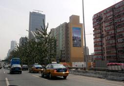 北京东三环长虹桥户外媒体